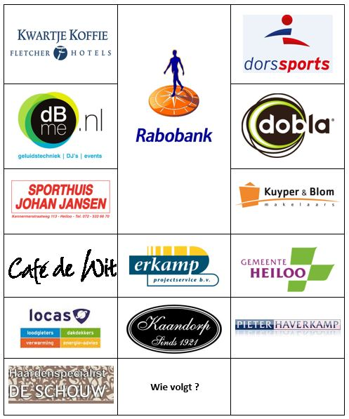 Ovezicht sponsoren