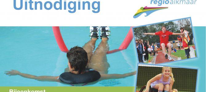 """Uitnodiging bijeenkomst: """"Sporten voor mensen met een beperking"""""""